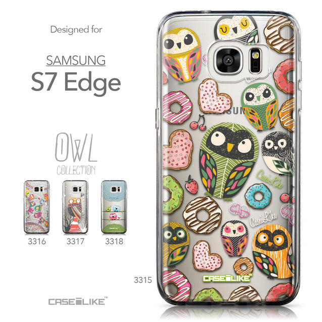 Collection - CASEiLIKE Samsung Galaxy S7 Edge back cover Owl Graphic Design 3315