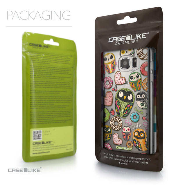 Packaging - CASEiLIKE Samsung Galaxy S7 Edge back cover Owl Graphic Design 3315
