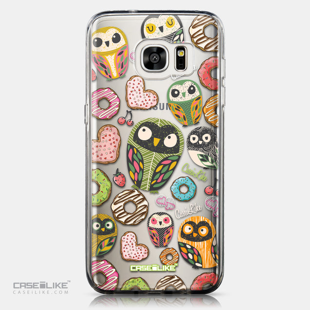 CASEiLIKE Samsung Galaxy S7 Edge back cover Owl Graphic Design 3315