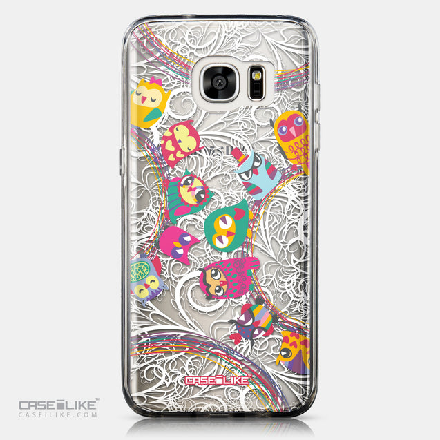 CASEiLIKE Samsung Galaxy S7 Edge back cover Owl Graphic Design 3316
