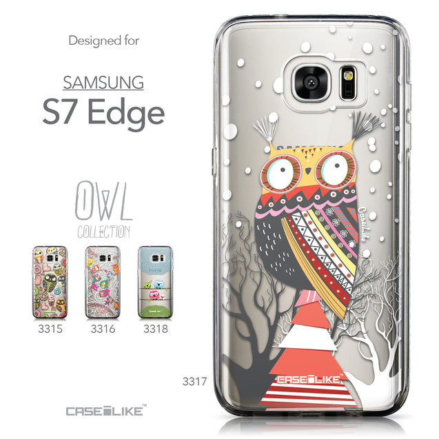 Collection - CASEiLIKE Samsung Galaxy S7 Edge back cover Owl Graphic Design 3317