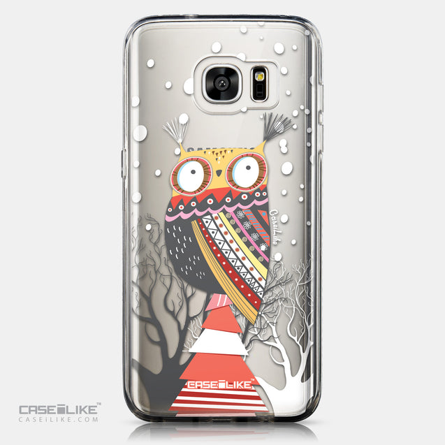 CASEiLIKE Samsung Galaxy S7 Edge back cover Owl Graphic Design 3317