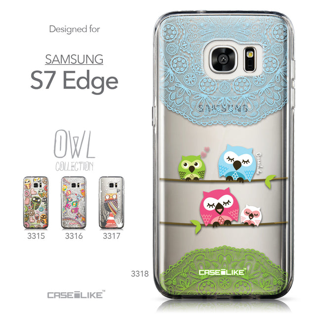 Collection - CASEiLIKE Samsung Galaxy S7 Edge back cover Owl Graphic Design 3318