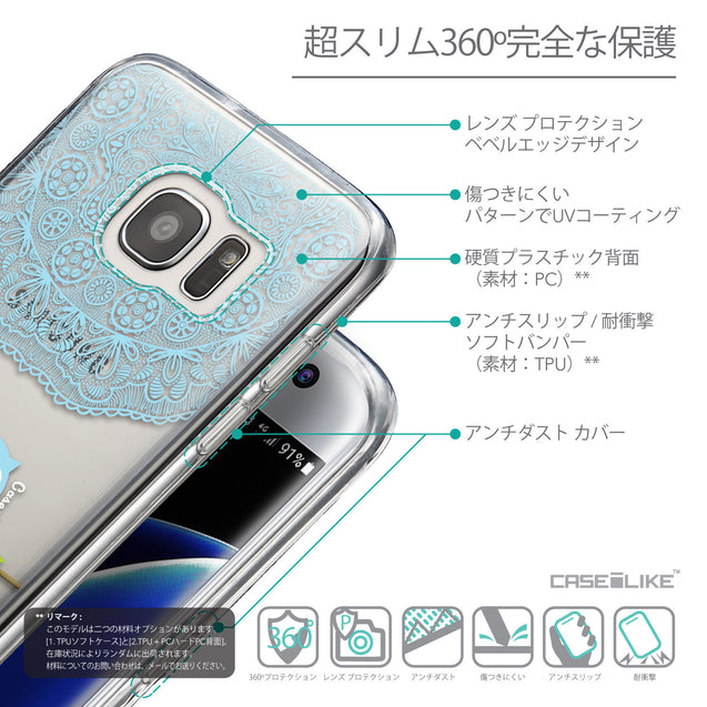 Details in Japanese - CASEiLIKE Samsung Galaxy S7 Edge back cover Owl Graphic Design 3318