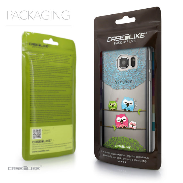 Packaging - CASEiLIKE Samsung Galaxy S7 Edge back cover Owl Graphic Design 3318