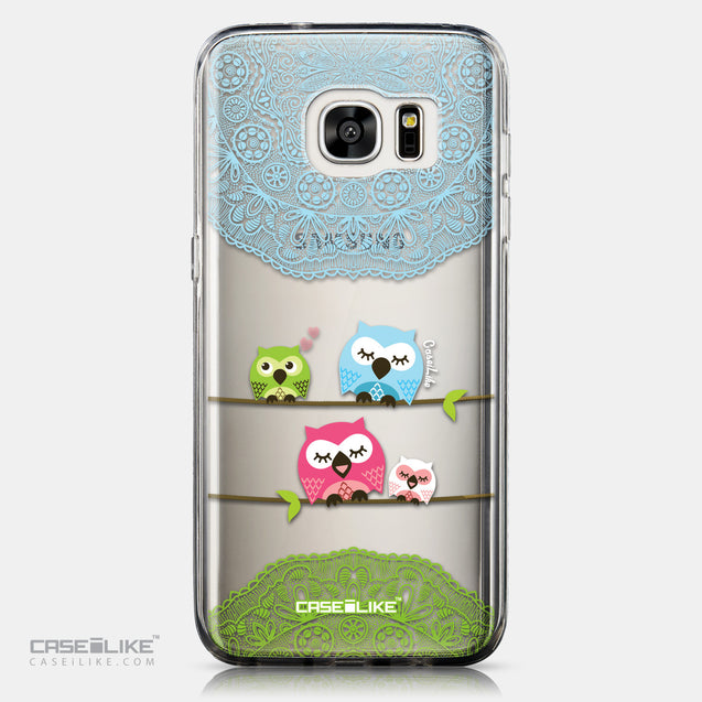 CASEiLIKE Samsung Galaxy S7 Edge back cover Owl Graphic Design 3318