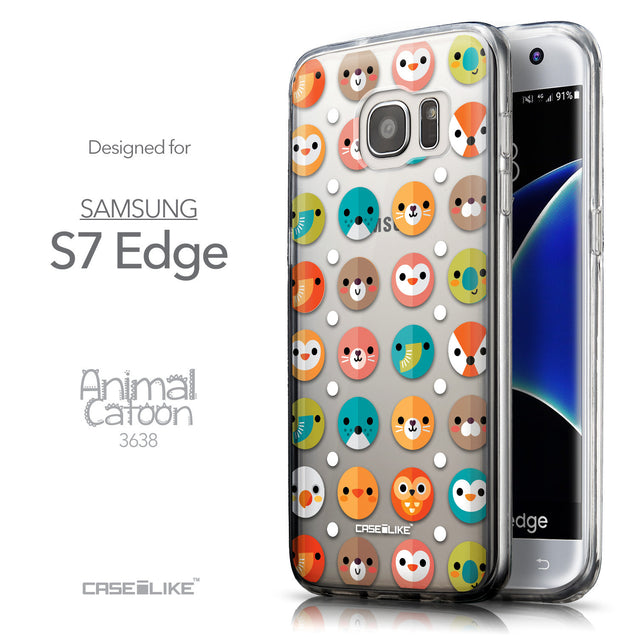 Front & Side View - CASEiLIKE Samsung Galaxy S7 Edge back cover Animal Cartoon 3638