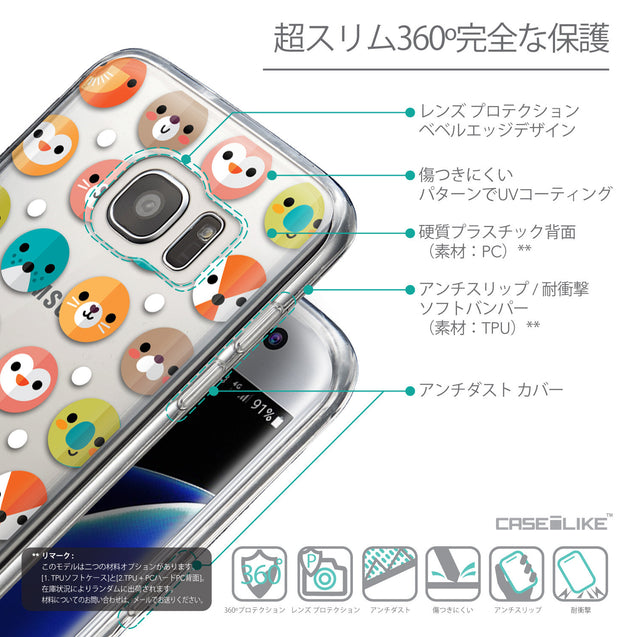 Details in Japanese - CASEiLIKE Samsung Galaxy S7 Edge back cover Animal Cartoon 3638