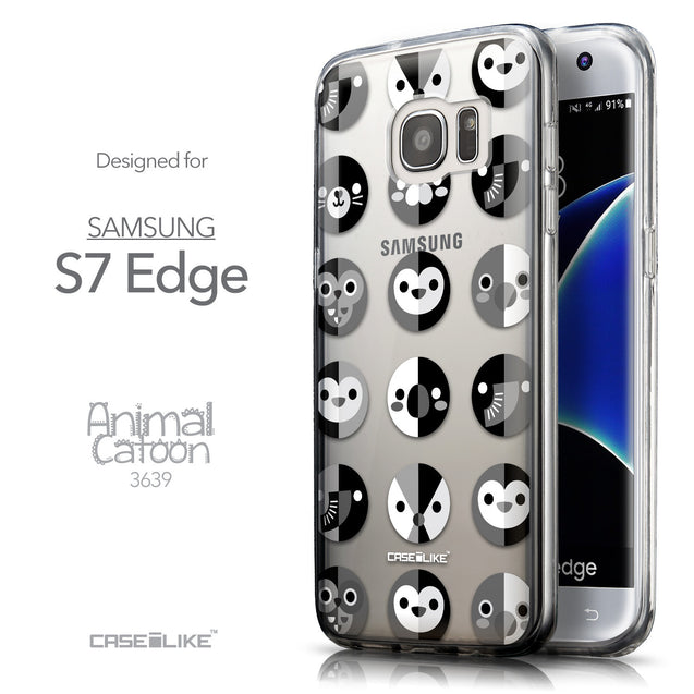 Front & Side View - CASEiLIKE Samsung Galaxy S7 Edge back cover Animal Cartoon 3639