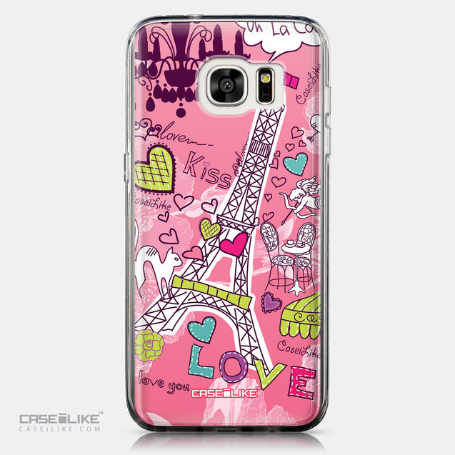 CASEiLIKE Samsung Galaxy S7 Edge back cover Paris Holiday 3905