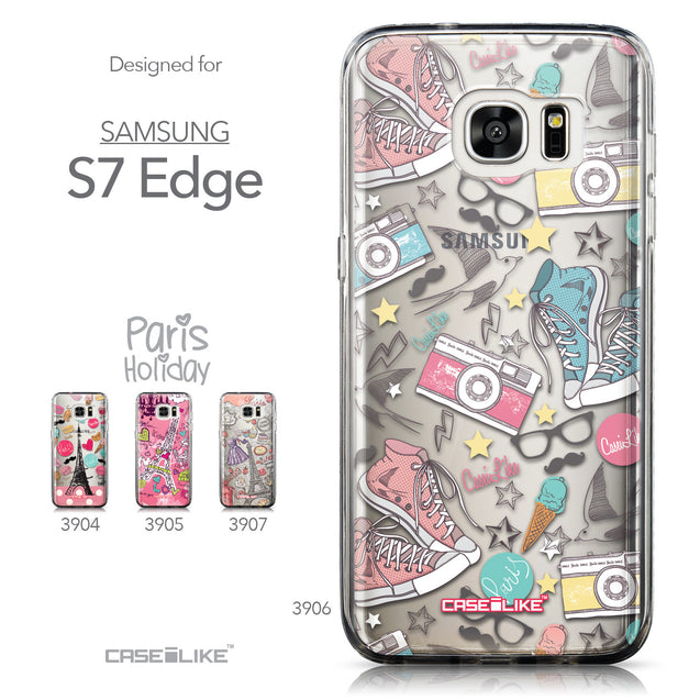 Collection - CASEiLIKE Samsung Galaxy S7 Edge back cover Paris Holiday 3906