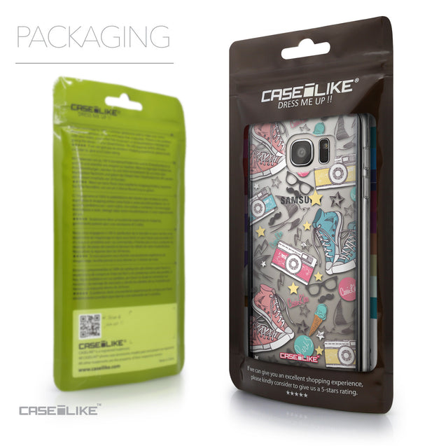 Packaging - CASEiLIKE Samsung Galaxy S7 Edge back cover Paris Holiday 3906