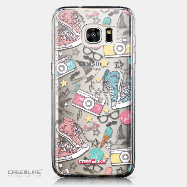 CASEiLIKE Samsung Galaxy S7 Edge back cover Paris Holiday 3906
