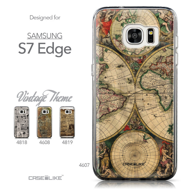 Collection - CASEiLIKE Samsung Galaxy S7 Edge back cover World Map Vintage 4607