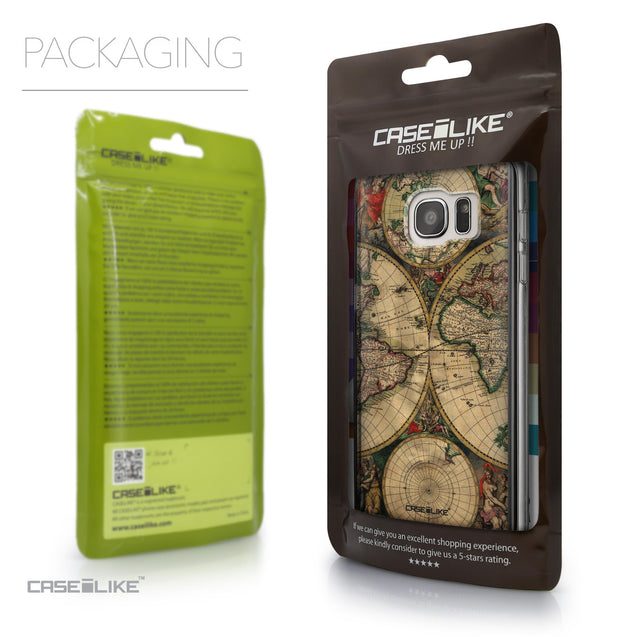 Packaging - CASEiLIKE Samsung Galaxy S7 Edge back cover World Map Vintage 4607