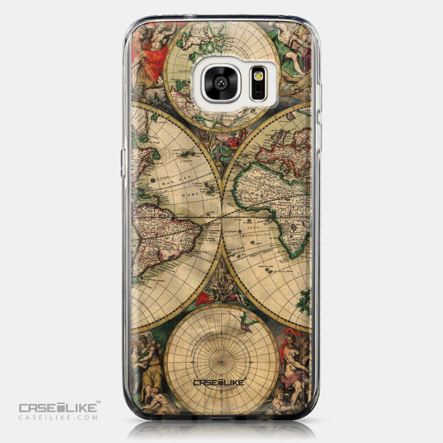 CASEiLIKE Samsung Galaxy S7 Edge back cover World Map Vintage 4607