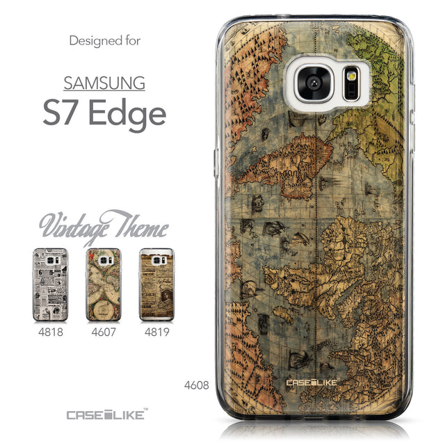 Collection - CASEiLIKE Samsung Galaxy S7 Edge back cover World Map Vintage 4608