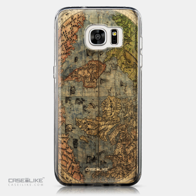 CASEiLIKE Samsung Galaxy S7 Edge back cover World Map Vintage 4608