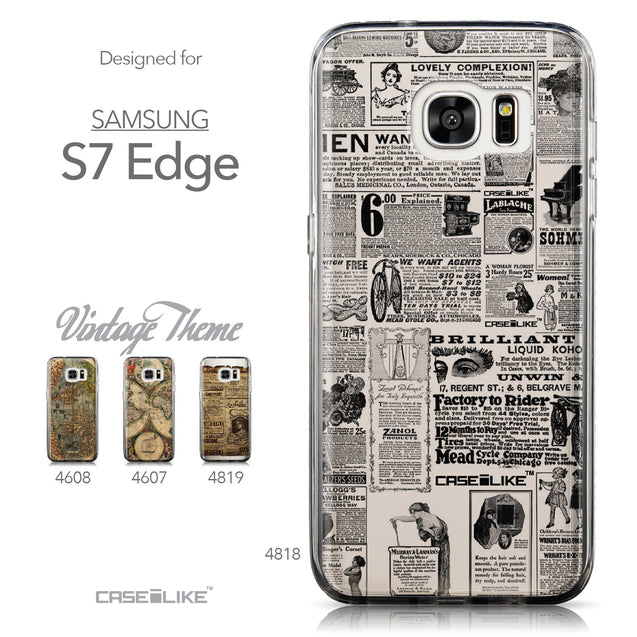 Collection - CASEiLIKE Samsung Galaxy S7 Edge back cover Vintage Newspaper Advertising 4818