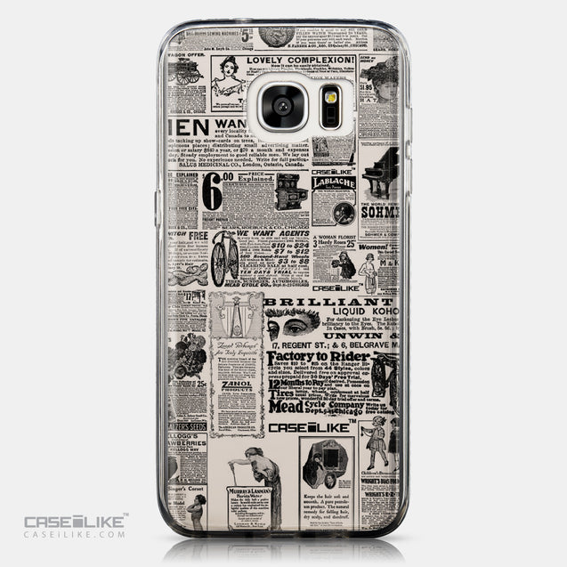 CASEiLIKE Samsung Galaxy S7 Edge back cover Vintage Newspaper Advertising 4818