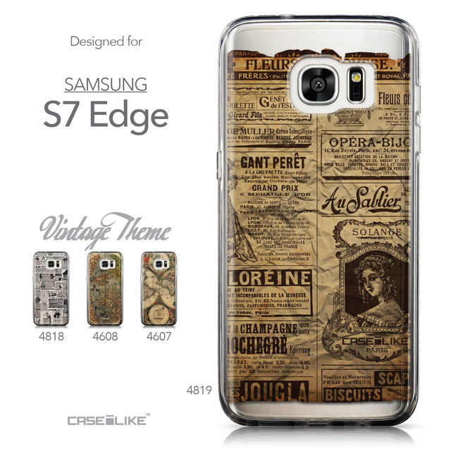 Collection - CASEiLIKE Samsung Galaxy S7 Edge back cover Vintage Newspaper Advertising 4819