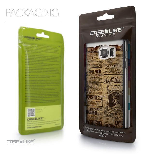 Packaging - CASEiLIKE Samsung Galaxy S7 Edge back cover Vintage Newspaper Advertising 4819