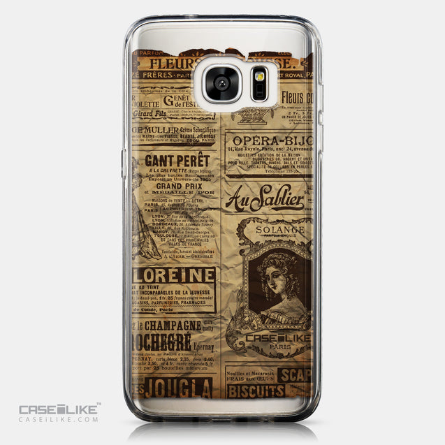 CASEiLIKE Samsung Galaxy S7 Edge back cover Vintage Newspaper Advertising 4819
