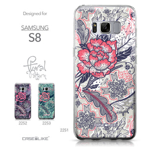 Samsung Galaxy S8 case Vintage Roses and Feathers Beige 2251 Collection | CASEiLIKE.com