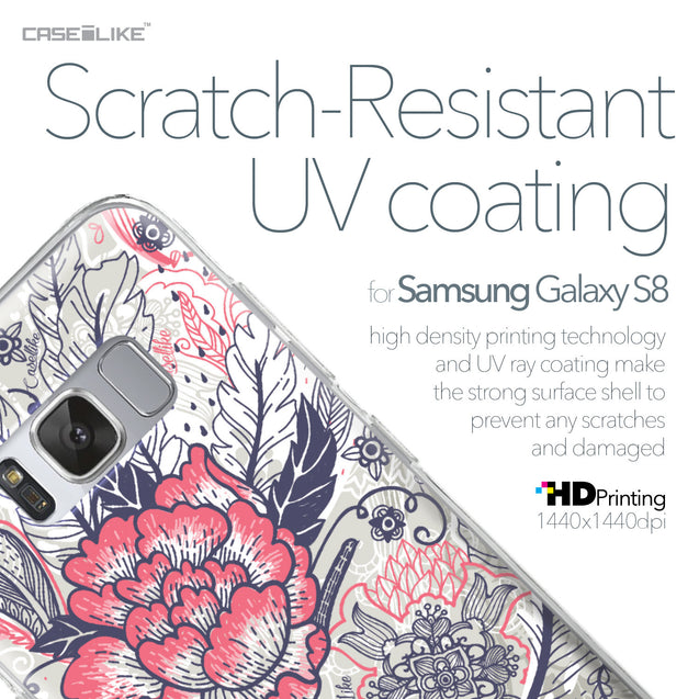 Samsung Galaxy S8 case Vintage Roses and Feathers Beige 2251 with UV-Coating Scratch-Resistant Case | CASEiLIKE.com