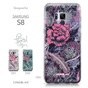 Samsung Galaxy S8 case Vintage Roses and Feathers Blue 2252 Collection | CASEiLIKE.com