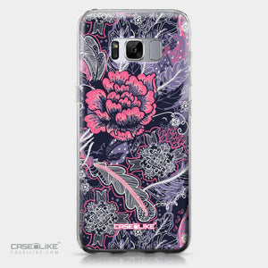 Samsung Galaxy S8 case Vintage Roses and Feathers Blue 2252 | CASEiLIKE.com