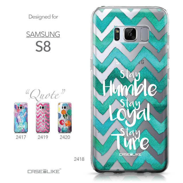 Samsung Galaxy S8 case Quote 2418 Collection | CASEiLIKE.com