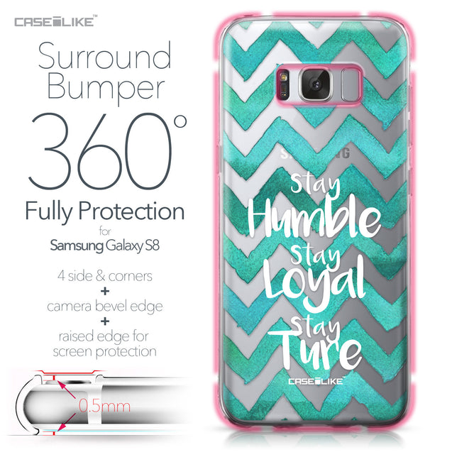 Samsung Galaxy S8 case Quote 2418 Bumper Case Protection | CASEiLIKE.com