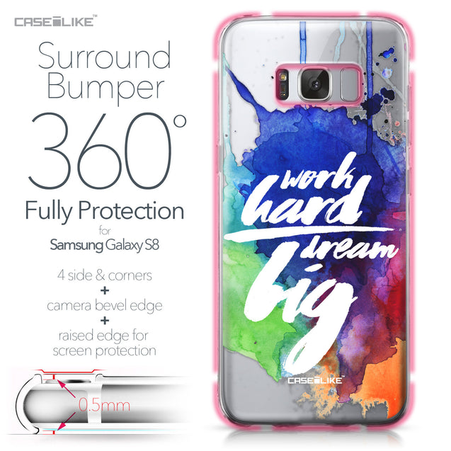 Samsung Galaxy S8 case Quote 2422 Bumper Case Protection | CASEiLIKE.com