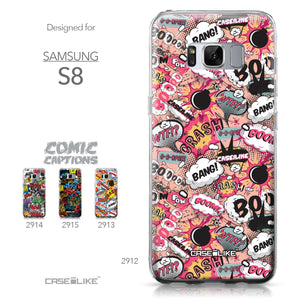 Samsung Galaxy S8 case Comic Captions Pink 2912 Collection | CASEiLIKE.com