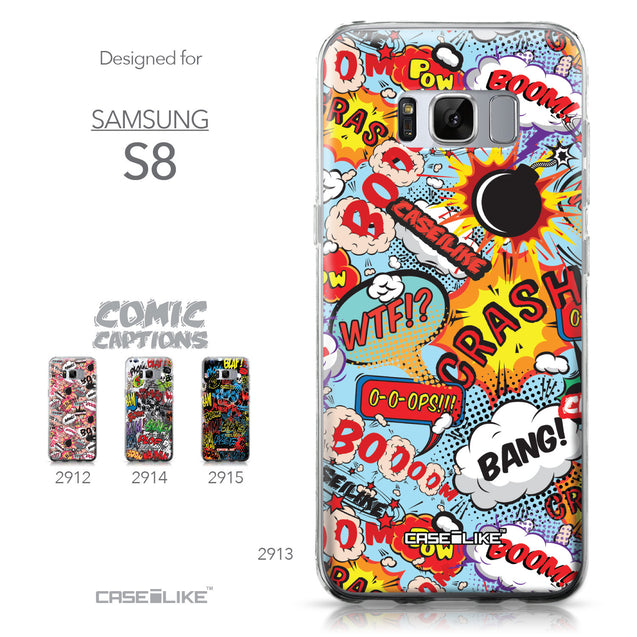 Samsung Galaxy S8 case Comic Captions Blue 2913 Collection | CASEiLIKE.com