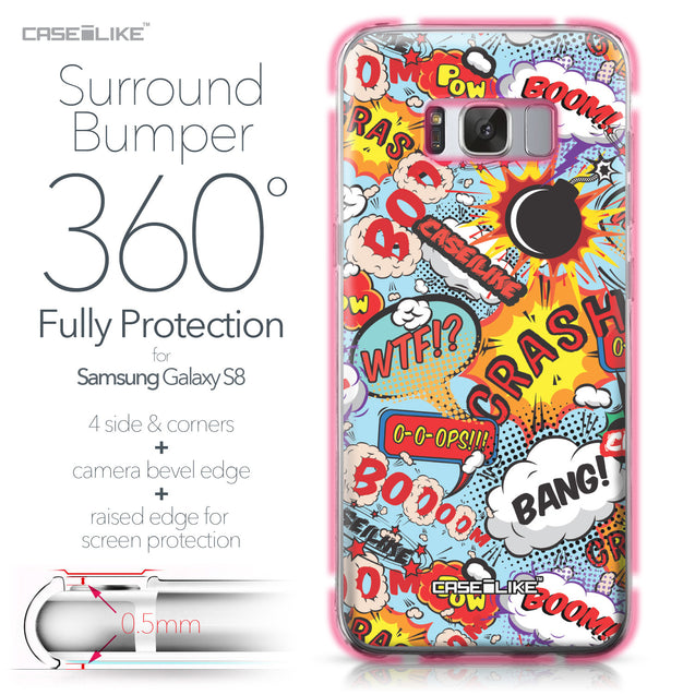 Samsung Galaxy S8 case Comic Captions Blue 2913 Bumper Case Protection | CASEiLIKE.com
