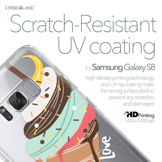 Samsung Galaxy S8 case Ice Cream 4820 with UV-Coating Scratch-Resistant Case | CASEiLIKE.com