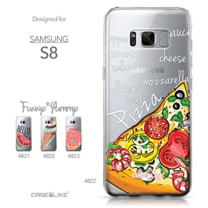 Samsung Galaxy S8 case Pizza 4822 Collection | CASEiLIKE.com