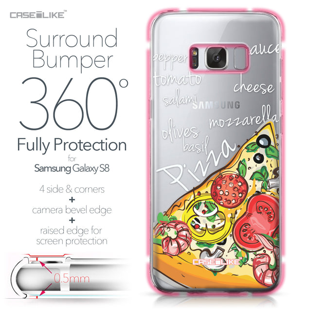 Samsung Galaxy S8 case Pizza 4822 Bumper Case Protection | CASEiLIKE.com