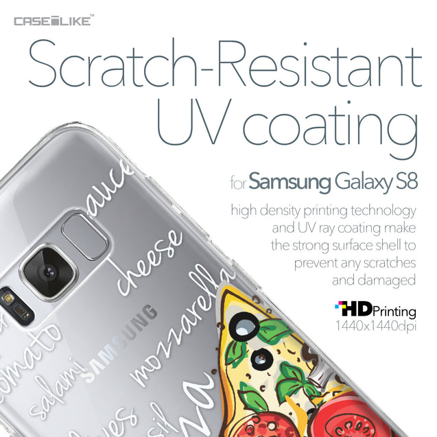 Samsung Galaxy S8 case Pizza 4822 with UV-Coating Scratch-Resistant Case | CASEiLIKE.com