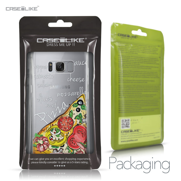 Samsung Galaxy S8 case Pizza 4822 Retail Packaging | CASEiLIKE.com