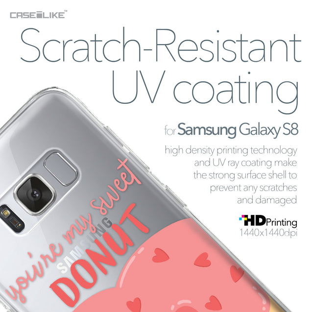 Samsung Galaxy S8 case Dounuts 4823 with UV-Coating Scratch-Resistant Case | CASEiLIKE.com
