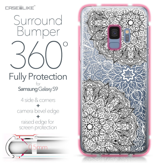 Samsung Galaxy S9 case Mandala Art 2093 Bumper Case Protection | CASEiLIKE.com