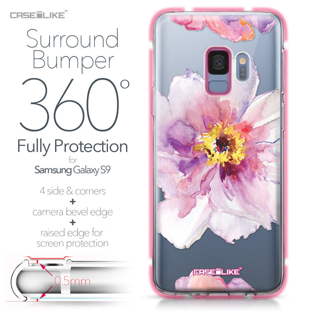 Samsung Galaxy S9 case Watercolor Floral 2231 Bumper Case Protection | CASEiLIKE.com