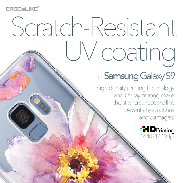 Samsung Galaxy S9 case Watercolor Floral 2231 with UV-Coating Scratch-Resistant Case | CASEiLIKE.com