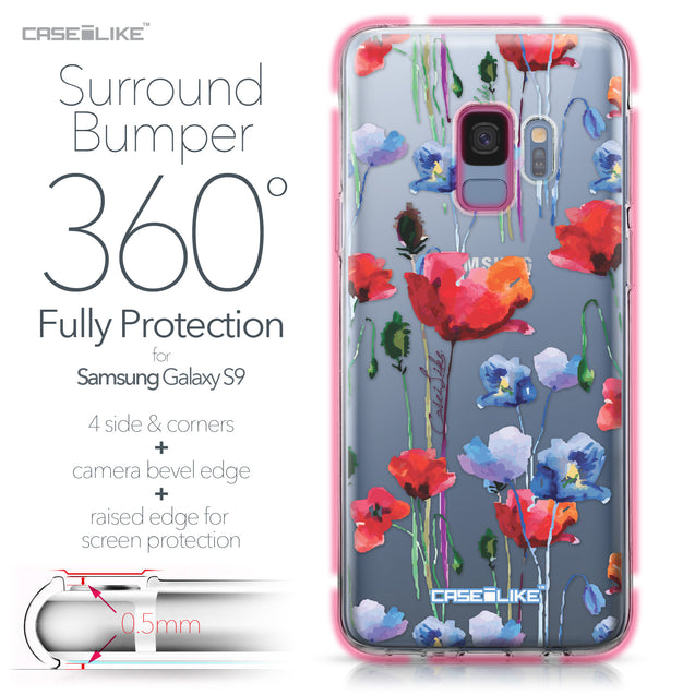 Samsung Galaxy S9 case Watercolor Floral 2234 Bumper Case Protection | CASEiLIKE.com
