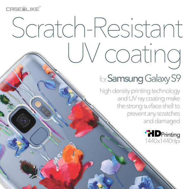 Samsung Galaxy S9 case Watercolor Floral 2234 with UV-Coating Scratch-Resistant Case | CASEiLIKE.com