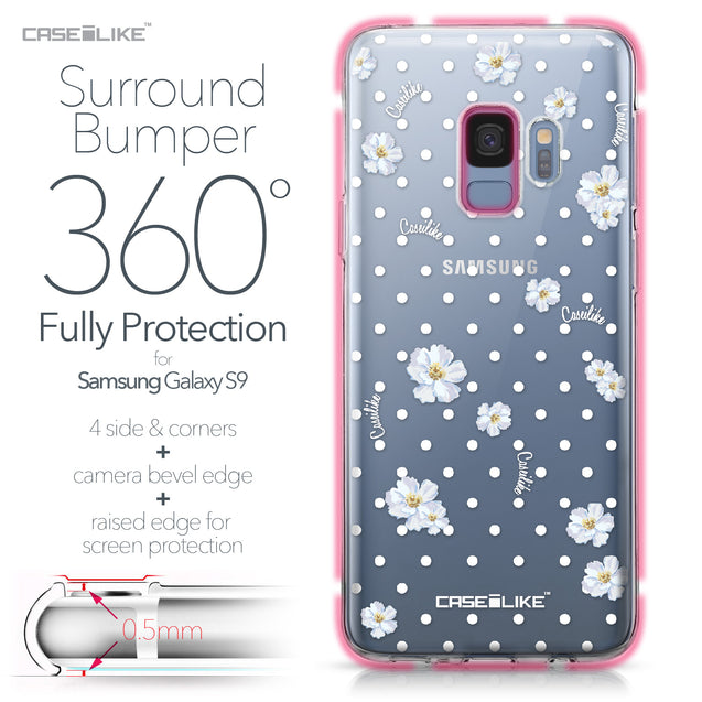 Samsung Galaxy S9 case Watercolor Floral 2235 Bumper Case Protection | CASEiLIKE.com