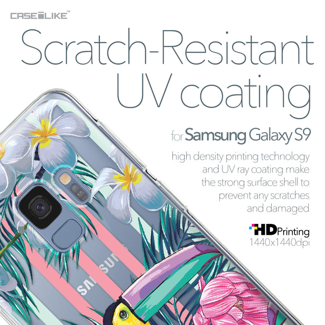 Samsung Galaxy S9 case Tropical Floral 2240 with UV-Coating Scratch-Resistant Case | CASEiLIKE.com